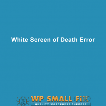 White Screen of Death Error