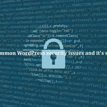 WordPress-security-issues-and-it's-solutions